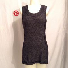 LULULEMON TANK Super soft & comfortable Rulu fabric is sweat wicking and has 4 way stretch. Pre owned with mild wear, nothing super noticeable, just some mild wear around the neck area, as shown in photo 4. Key/card  pocket in the back, size 6. No trading please! Thank you! lululemon athletica Tops