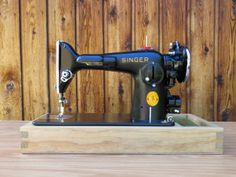 Sewing Machine Wood Base (Pictures of Building Process) - This one includes dovetail joints & a cubby for storage, but doesn't include the hinges