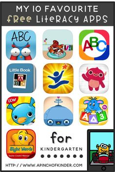 My 10 Favourite Free Literacy Apps for Kindergarten! Classroom tested in an FDK classroom for the last 3 years! There are my kids favourite apps! Free Learning Apps, Learning Websites For Kids, Educational Websites For Kids, Toddler Learning, Preschool Learning, Preschool Activities, Listening Activities, Educational Games, Learning Resources