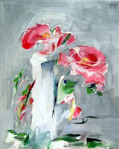 Red Roses -- #Turkish #Painter #Artist #Gonul #Akin