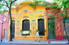 Buenos Aires'in La Boca Semti /Arjantin