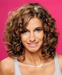images of womens haircuts medium length spiral perm curly hairstyle 3969