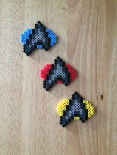 Star Trek Perler Bead badges by CutesNBootsPerlers on Etsy