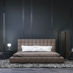 Glorious leather bedroom with lovely home décor with lux bed. Get more interior design ideas fro bedroom. Home Decor Bedroom, Modern Bedroom, Master Bedroom, Bedroom Ideas, Bedroom Designs, Contemporary Bedroom, Bedroom Brown, Luxury Bedroom Design, Modern Beds