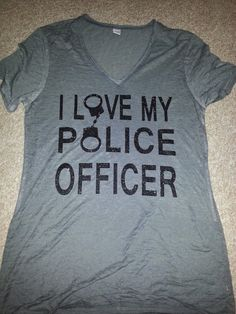 @Abby Christine Christine Hazel  thought of you when I saw this!!  Police Wife on Etsy, $25.00