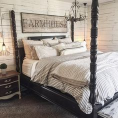 Hooray for Sunday's and sleeping in. #masterbedroom #rustic #farmhouse #therustybee