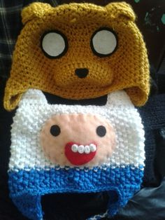 adventure time crochet hats