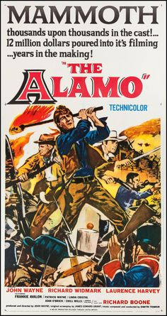 "The Alamo (United Artists, 1960). Three Sheet (41"" X 79""). Western."