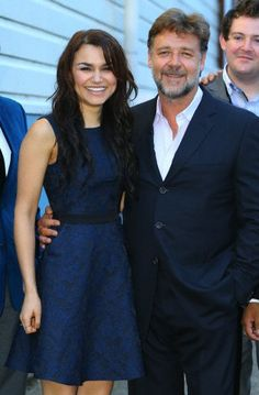 "Samantha Barks and Russell Crowe ""Indoor Garden Party"" Opening"