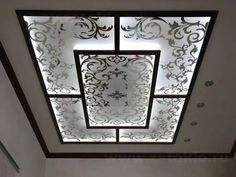 stained glass panels with printed decorations and ceiling led lights A comprehensive guide to installing stained glass ceiling panels and windows in modern POP false ceiling designs for living rooms, bedrooms, offices and public places.