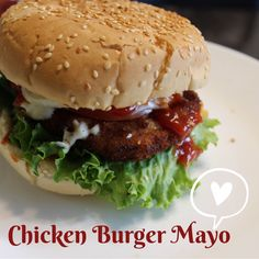 Food Pictures, Hamburger, Chicken, Ethnic Recipes, Hamburgers, Burgers, Cubs