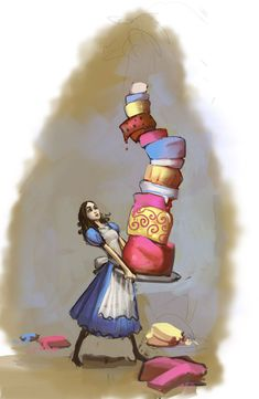 Alice: Madness Returns - Concept Art - Alice & Cake - Ken Wong