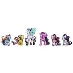 Be a part of the Ponymania with this gorgeous collection of pony pals! Your Princess Celestia figure is a royal pony and she'll bring your Rainbow Dash, Fluttershy, Rarity, Princess Twilight Sparkle and Pinkie Pie friends together to discover the magic of friendship!<br><br>My Little Pony and all related characters are trademarks of Hasbro.