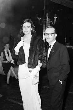 """""""[Truman Capote] came to my birthday party, with Gloria Vanderbilt. He was wearing khakis, an evening shirt with a bow tie, black patent pumps, and a leather jacket. I was impressed by that. Lee Radziwill, Anderson Cooper, Studio 54, Gloria Vanderbilt, Slim Keith, Poor Little Rich Girl, Richard Avedon, High Society, Famous Faces"""