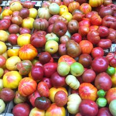 Heirloom tomatoes at the Ferry Building in SF