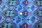 Ethnic Tribal Jersey Knit Rayon Modal Blend Spandex Lycra Stretch Blues BTY - /RAYON, BLEND, Blues, Ethnic, JERSEY, KNIT, LYCRA, Modal, SPANDEX, Stretch, Tribal