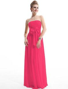 Amazon.com: Ever Pretty Empire Waist Bowtie Strapless Evening Dress 09060: Clothing