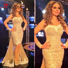 Find More Prom Dresses Information about 2017 Myriam Fares Pageant Dress Sheer Crew Sexy Illusion Long Sleeve Prom Dress Mermaid Lace Evening Gowns with Detachable Tail ,High Quality gown dress,China dress rentals Suppliers, Cheap dresses with empire waist from S. Dream Dreses Co,Ltd on Aliexpress.com