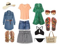 """Let's go to the BEACH !"" by nainkaba on Polyvore featuring moda, MICHAEL Michael Kors, Topshop, adidas, MANGO, Laidback London, L'Agent By Agent Provocateur, New Look, Straw Studios y Havaianas"