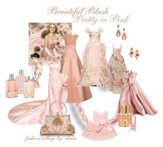 beautiful Blush Pretty in Pink by dawn-lindenberg on Polyvore featuring polyvore fashion style Jason Wu Oscar de la Renta L'Occitane Acqua di Parma Dolce&Gabbana Alexis Mabille WALL GE clothing