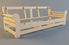 Sofa frame: