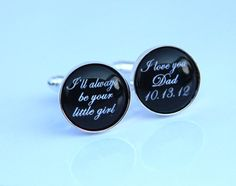 Father of the Bride Cufflinks  I will be always by YaYaElegance, $38.00