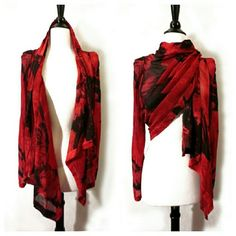 Ann Demeulemeester One Of A Kind Silk I dyed it red. :) Ann D size 38. US XS/S. Perfect condition. Might decide to keep so feel free to make an offer. Ann Demeulemeester Tops