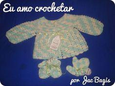 Eu Amo Crochetar!: Casaquinho, luvinhas e sapatinhos