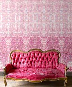 Wallpaper_Simcox-Hori-Rose-3 Flock Wallpaper, Wall Wallpaper, Bath Girls, Wallpaper Calculator, Visual Texture, Wall Finishes, High Quality Wallpapers, Mold And Mildew, Designer Wallpaper