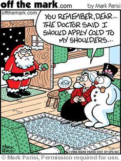 """""""Humor Navideño"""" – Santa Claus y el hombre de nieve"""