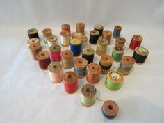 Louisa Amelia Jane - Blog - Thank you, Miss Beers. Vintage reels of sewing silk.