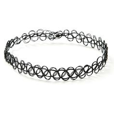 Forever21 Tattoo Choker ($2.90) ❤ liked on Polyvore featuring jewelry, necklaces, forever 21 necklaces, tattoo jewelry, forever 21 choker, forever 21 jewelry and choker necklace