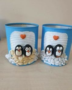 Stone Crafts, Rock Crafts, Diy Home Crafts, Diy Crafts To Sell, Holiday Crafts, Diy Gifts For Kids, Diy For Kids, Crafts For Kids, Tin Can Crafts