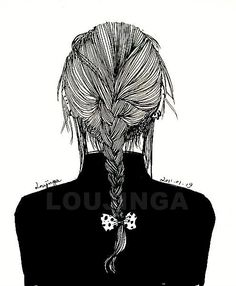 Fashion Illustration Braided Hair Back of Head ◆ Art For Teens ◆