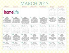 HomeLife Magazine — March 2013 Family Time Calendar: First Is Last