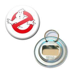 Décapsuleur Porte clé Badge 56 mm - S.O.S Fantômes Ghostbusters Vintage Film : Porte clés par miss-kawaii