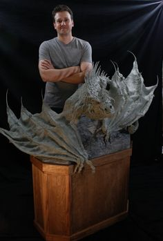 Large Scale One of a Kind Dragon Sculpture by RavendarkCreations