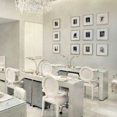 White Manicure stations