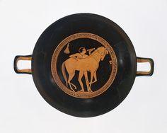 Attributed to Onesimos. Terracotta kylix (drinking cup), ca. 490 B.C. Greek. The Metropolitan Museum of Art, New York. Gift of Norbert Schimmel Trust, 1989 (1989.281.71)