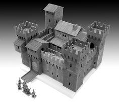 The Manor House by Manorhouse Workshop wargaming elements Minecraft Castle Blueprints, Minecraft Farm, Minecraft Plans, Castle Layout, Castle Floor Plan, Building Concept, Model Building, Model Castle, Minecraft Architecture