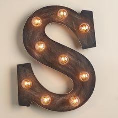 'S' Marquee Light | World Market