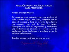ORACIÓN PARA EL ARCÁNGEL MIGUEL PARA PROTECCIÓN  #UniversoDeAngeles