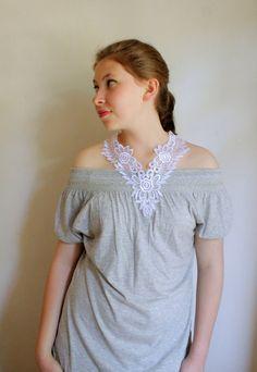 SUMMER SALE... Women white lace necklace choker by semajewelry, $15.90