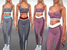 Saliwa's Female Full Gym Outfits - Sims 4 Under Wear Mods Sims 4, Sims 4 Mods Clothes, Sims 4 Clothing, Clothing Sets, Sims 4 Tsr, Sims Cc, The Sims 4 Pack, Sims 4 Traits, Sims 4 Black Hair