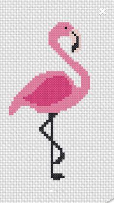 Resultado de imagem para toalhas bordadas em ponto cruz de flamingo