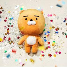 Kakao Friends Official Goods PRODO Doll Version 1 for sale online Ryan Bear, Kakao Ryan, Kakao Friends, Bear Doll, Rilakkuma, Plush Dolls, Lion, Cute Animals, Teddy Bear