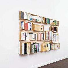 Flying shelf - ensemble d'étagères en chêne contemporaines