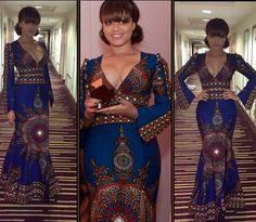 Nadia Buari In S*xy Ankara Dress