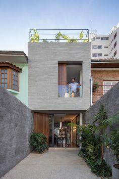 Ideas For House Simple Modern Loft Minimalist House Design, Modern House Design, Small House Design, Loft Design, Style At Home, Modern Architecture House, Architecture Design, House Paint Interior, Narrow House