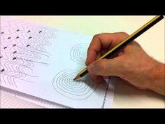 Esercizio di prescrittura per favorire un'impugnatura corretta con punta in avanti e scivolamento della penna-matita nella valle incantata